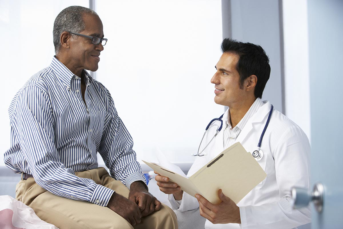 Testosterone therapy discussion with the doctor