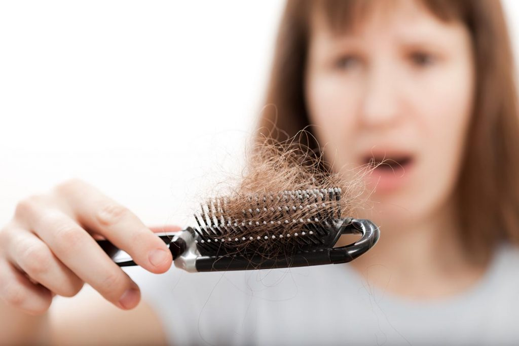 Hair loss in women with low T