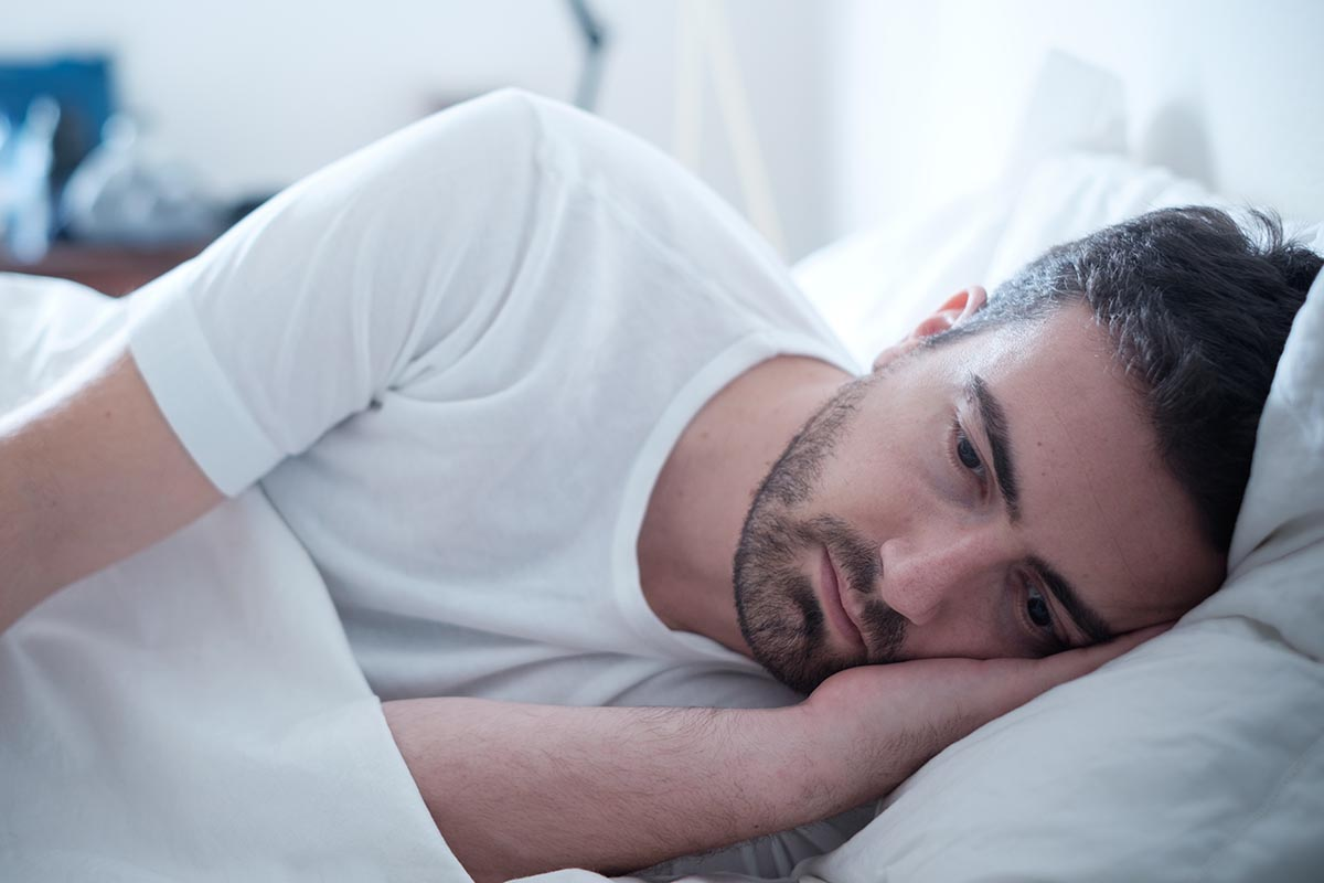 Low testosterone man with sleeping problems